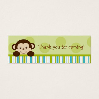 Lil Monkey Mod Monkey Party Favor Gift Tags