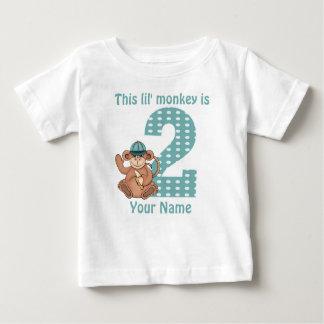 Lil Monkey Personalized 2nd Birthday Shirt