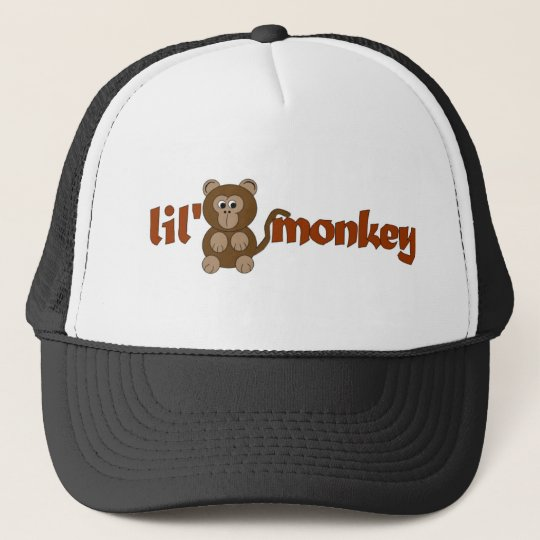 Lil monkey trucker hat