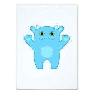 Li'l Monster Baby Invitation - blue