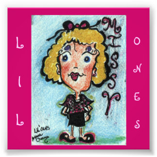 """""""Lil Ones"""" ACEO Cartoon Character. """"Missy"""" Photo Art"""
