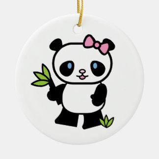 Lil Panda Girl Christmas Ornament