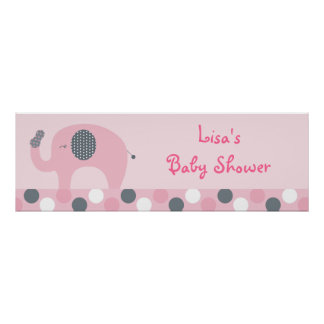 Lil Peanut Elephant Personalized Banner Sign Poster