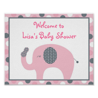 Lil Peanut Elephant Welcome Sign Poster
