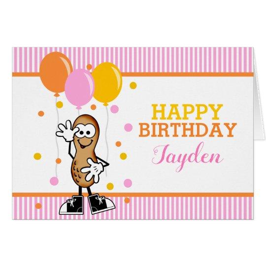 Lil Peanut Personalised Birthday Greeting Card