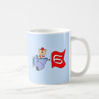 Lil Pilot Bear 6th Birthday Basic White Mug