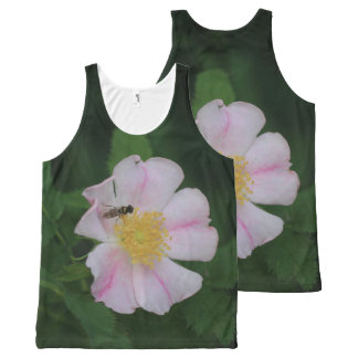 Lil Pink Flower All-Over Print Tank Top