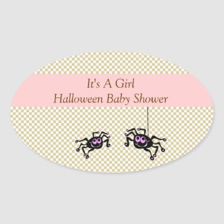 Lil Pink Spider Baby Shower Stickers
