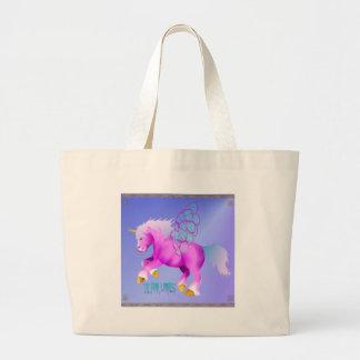 'Lil Pink Unipeg poster Large Tote Bag
