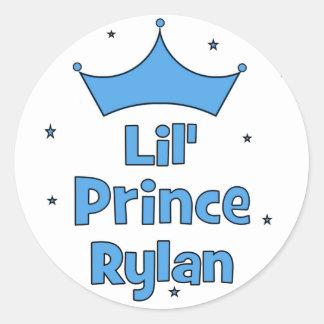 Lil' Prince Rylan Round Sticker
