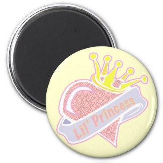 Lil Princess 6 Cm Round Magnet