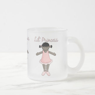 Lil Princess - Pink Ballerina 1 Frosted Glass Mug