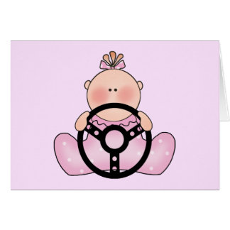 Lil Race Baby Girl Note Card