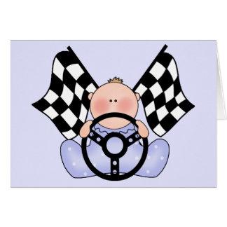 Lil Race Winner Baby Boy Note Card