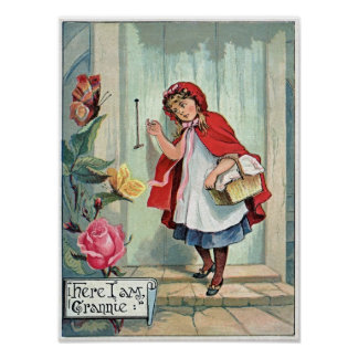 Lil Red Riding Hood GranMa's Vintage Poster Art Pr