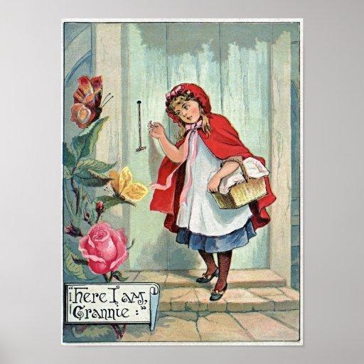 Lil Red Riding Hood GranMa's Vintage Poster Art Pr