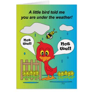 """""""Lil Reddie under the weather"""" Card"""