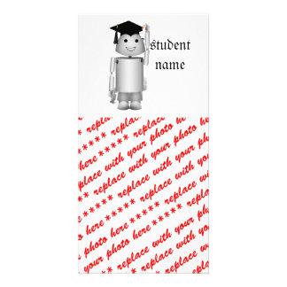 Lil Robo-x9 Got His Diploma Photo Greeting Card