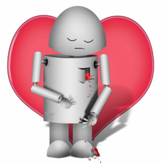 Lil' Robo-x9 Missing his Sweetie Standing Photo Sculpture