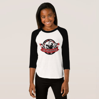 Lil Scrappers Girls' American Apparel 3/4 Sleeve T-Shirt