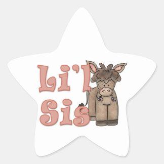 Li'l Sister Cute Donkey Star Sticker