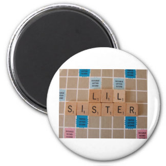 Lil Sister 6 Cm Round Magnet