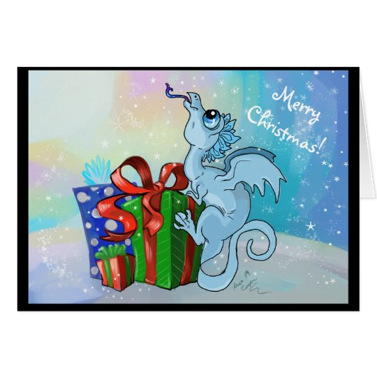 lil Snowflake Dragon~Merry Christmas Holiday Cards