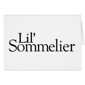Lil Sommelier Greeting Cards