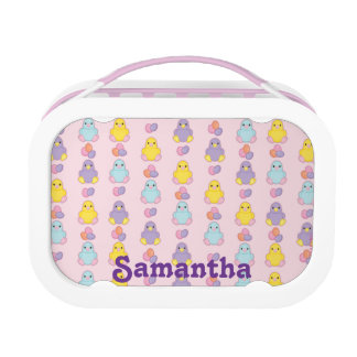 Lil Spring Chick Pattern Lunch Box