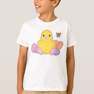 Lil Spring Chick Pattern T-Shirt
