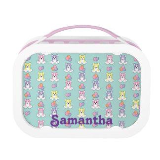Lil Spring Corgi Pattern Lunchboxes