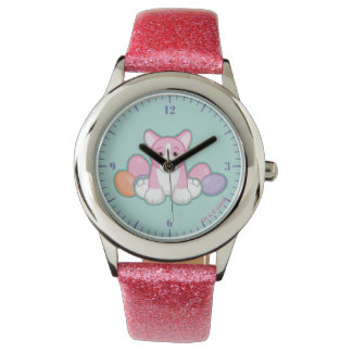 Lil Spring Corgi Pattern Watch