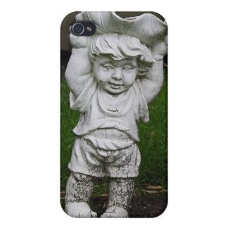 Lil Statue Boy Garden Photo iPhone 4 Cases