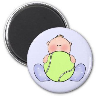 Lil Tennis Baby Boy 6 Cm Round Magnet