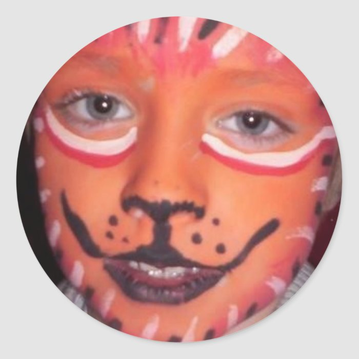 LI'L TIGER ROUND STICKER
