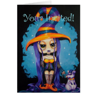 Lil Witchy Your Invited Greeting Card