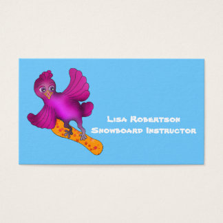 Lila loves Snowboarding by The Happy Juul Company Business Card