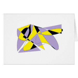 LILAC ABSTRACT BLANK GREETING CARD