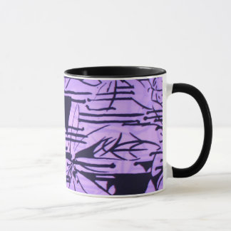 lilac abstract pint mug