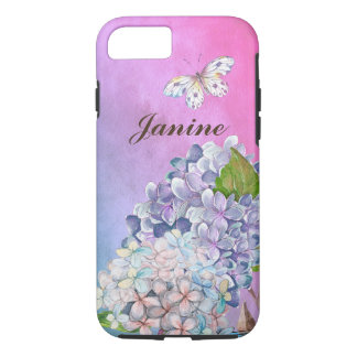 Lilac and Blue Hydrangea Blossom Summer Dream iPhone 7 Case