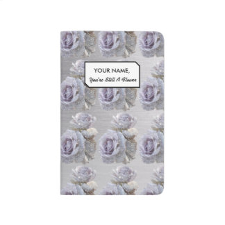 Lilac and Glitter Rose Pattern Journal