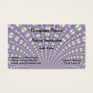 Lilac and Lime Balls Business Card