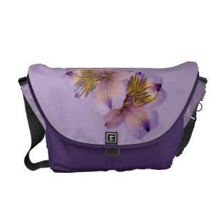 Lilac and Purple Customizable Messenger Bag