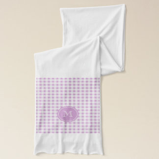 Lilac and White Gingham, Your Monogram Scarf