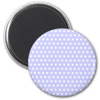Lilac and White Polka Dot Pattern Spotty Fridge Magnets