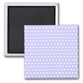 Lilac and White Polka Dot Pattern Spotty Refrigerator Magnet