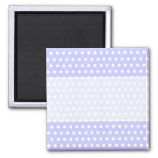 Lilac and White Polka Dot Pattern. Spotty. Square Magnet