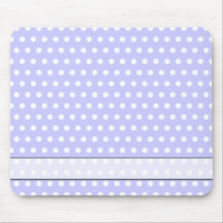 Lilac and White Polka Dot Pattern. Spotty. Mouse Mat
