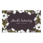 Lilac Anemone Blooms Personalised Floral Pack Of Standard Business Cards