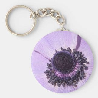 Lilac Anemone Key Chain